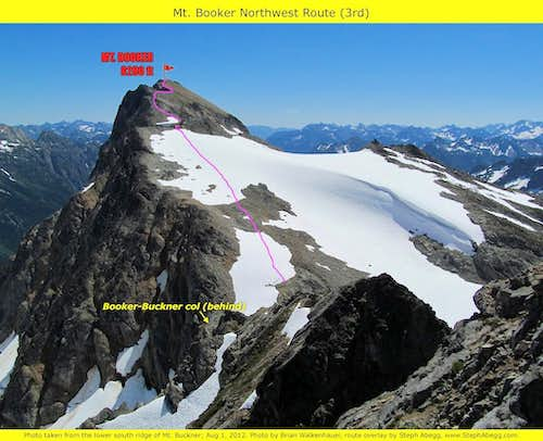 Mt. Booker NW Route overlay