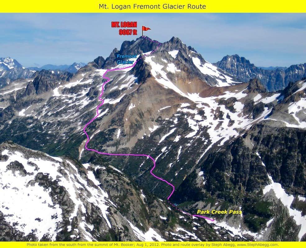 Mt. Logan Fremont Glacier overlay : Photos, Diagrams ...