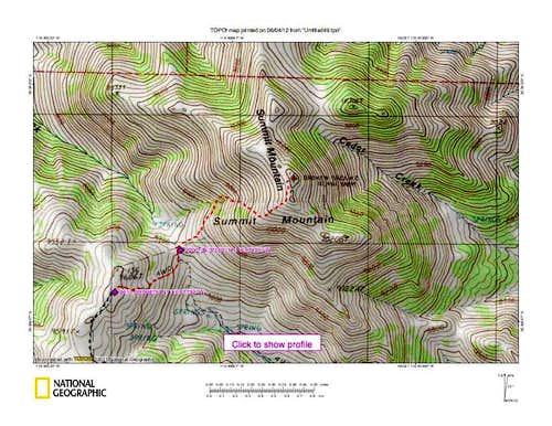 Summit Mountain (NV) map