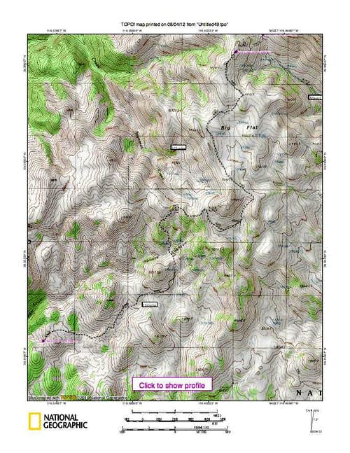 Summit Mountain (NV) Map