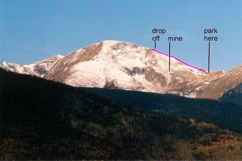 The north ridge route