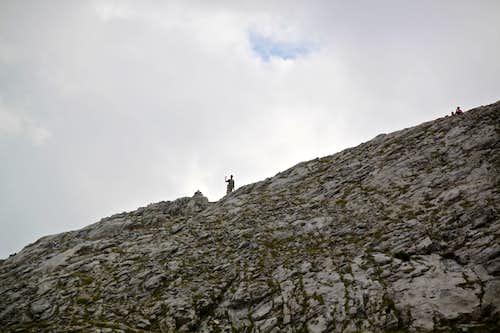 Hiking towards the ridges