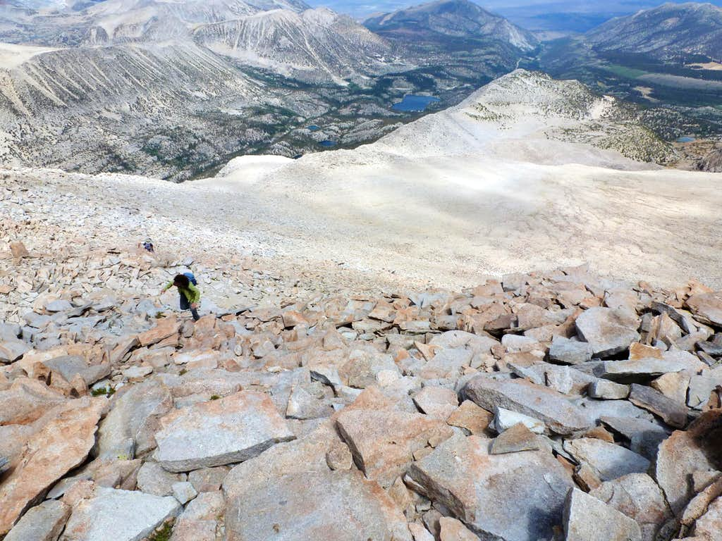 Climbing the final stretch to the summit
