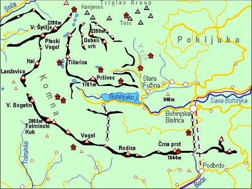 A self-made map of Bohinj...