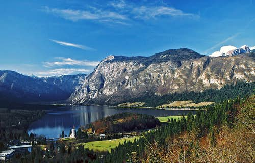 Bohinj lake from east. More...