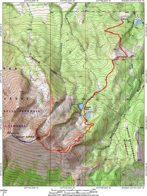 An annotated Topo of the...