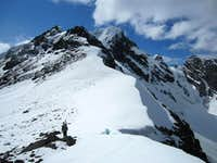 To the summit of Bellicose Peak