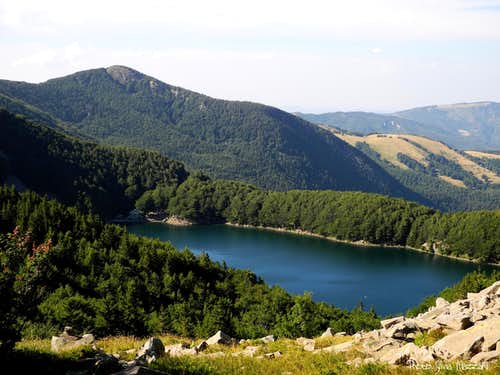 The Holy Lake (Lago Santo) seen from Monte Sterpara