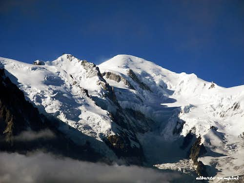 Mont Maudit and Mont Blanc seen from Aiguilles Rouges