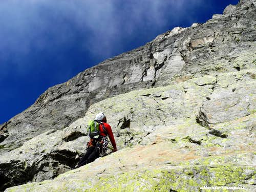 Brunat-Perroux third pitch, Aiguille de l\'Index