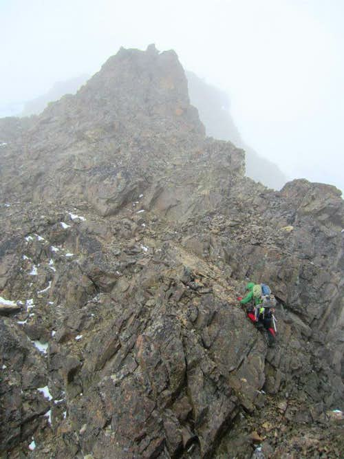 Scrambling the North Ridge