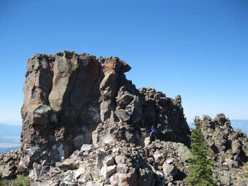 The true summit from Tower 5
