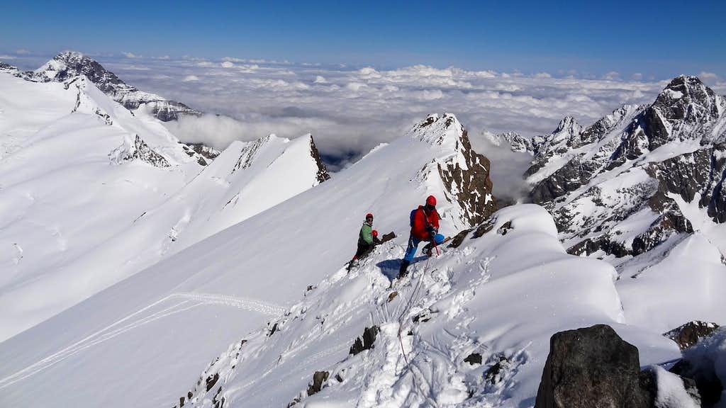 On the ridge of Finsteraarhorn