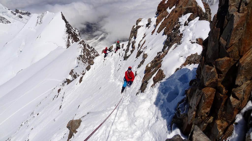 On the ridge of Finsteraarhorn II