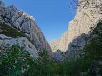 Paklenica walls where they\'re highests