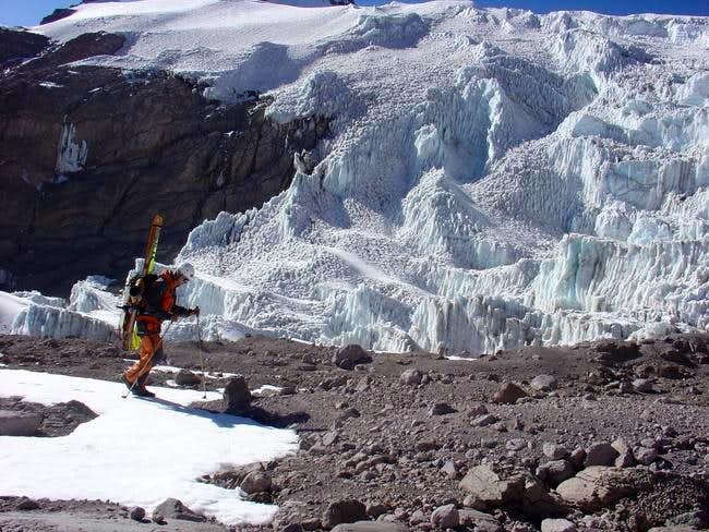 going arround the glacier to...