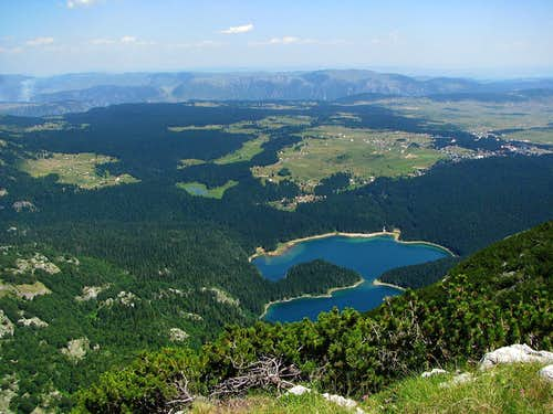 Crno Jezero from Maly Meded