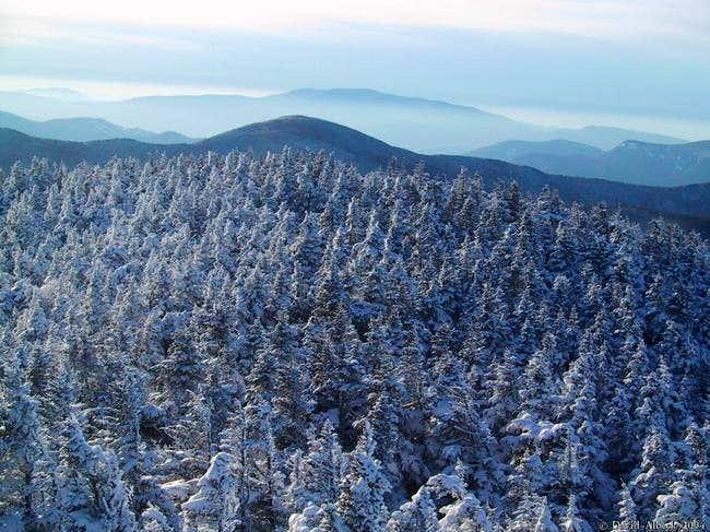 View west over Mt Hancock...