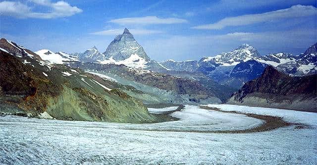 Matterhorn and Dent Blanche...