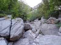 Boulders in the bottom of Mala Paklenica