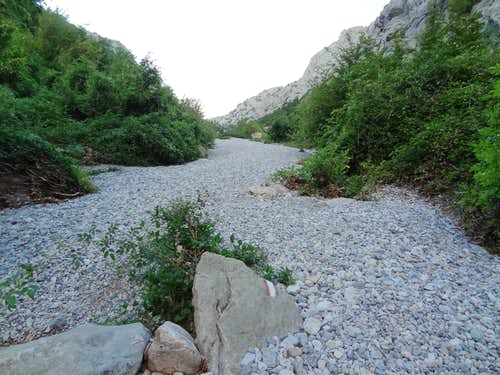 Peebles clearing near the lower part of Mala Paklenica