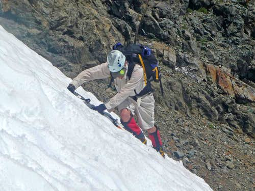 Yem Traversing Snow