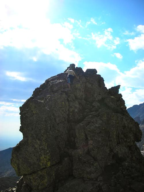 Climbing a pinnacle