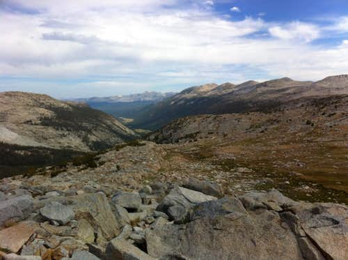 Lyell Canyon From Donohue Pass