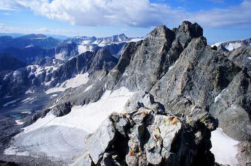 Turret Peak as seen from Sunbeam Peak