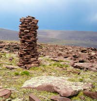 Well constructed cairn