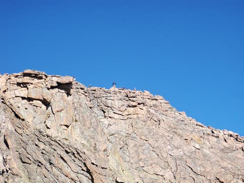 People on top of Longs Peak