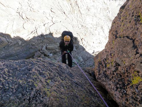 Rappel into the Notch
