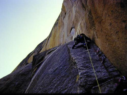 E. C. Joe on the first ascent...