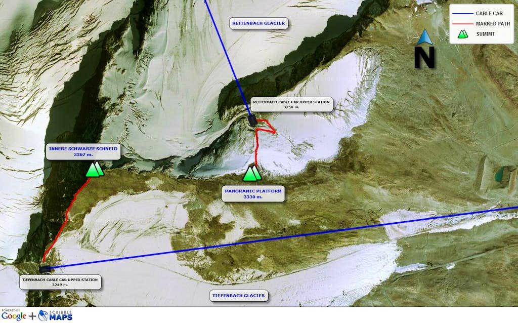 Innere Schwarze Schneid - map