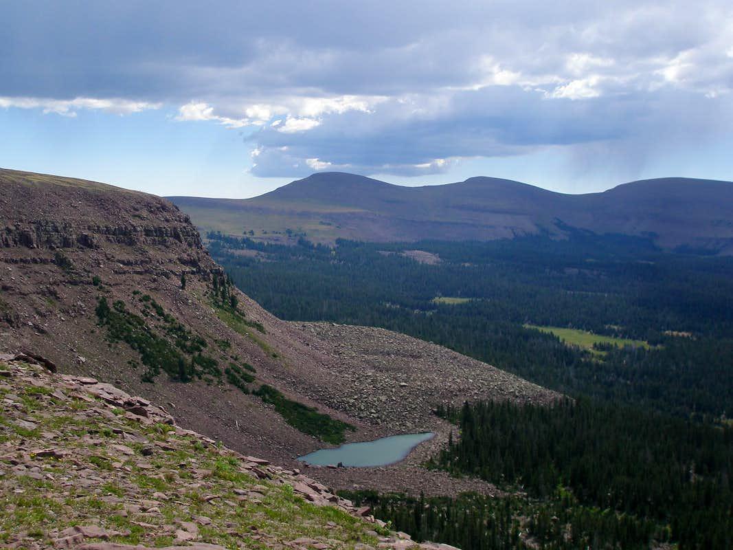 Fish lake peak via paradise park climbing hiking for Peak fishing times