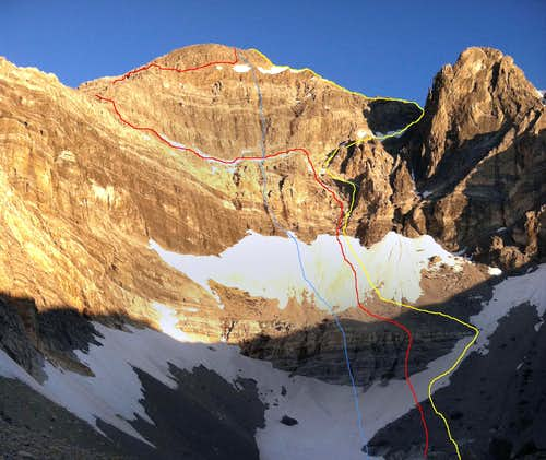East Face Routes