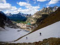 Ascending Opabin Glacier