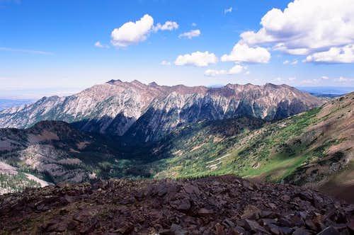 Cottonwood Ridge from Red Baldy
