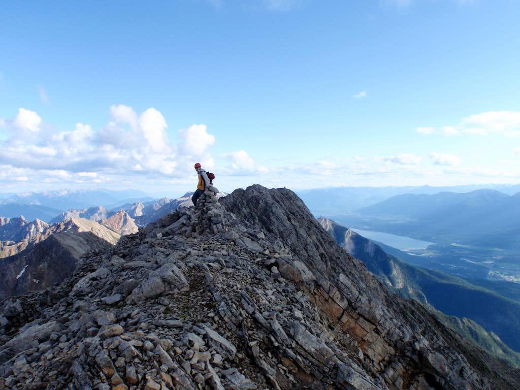 Leaving north summit