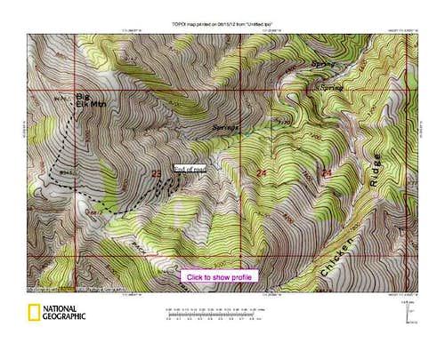 Big Elk Route map