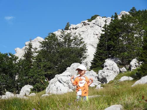 Mikolaj on the Zavižan trail