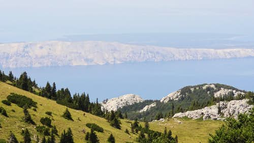 Kvarner islands from the Zavižan hut