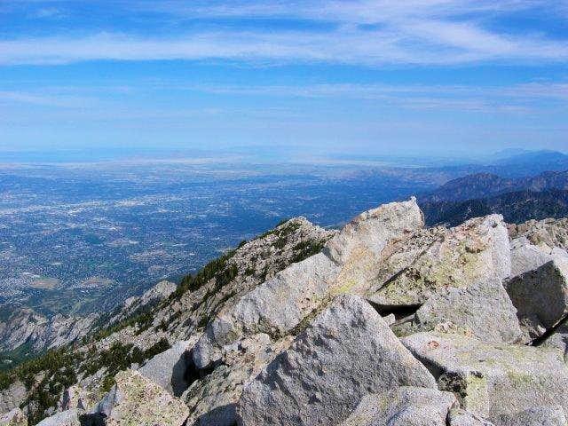Summit view of the Salt Lake...
