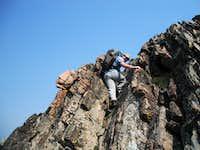 Class 4 to the top of Gallatin Peak