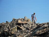 Ben on top of Gallatin Peak