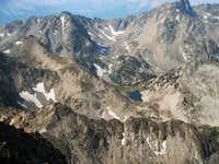 Summit Lake from Gallatin Peak