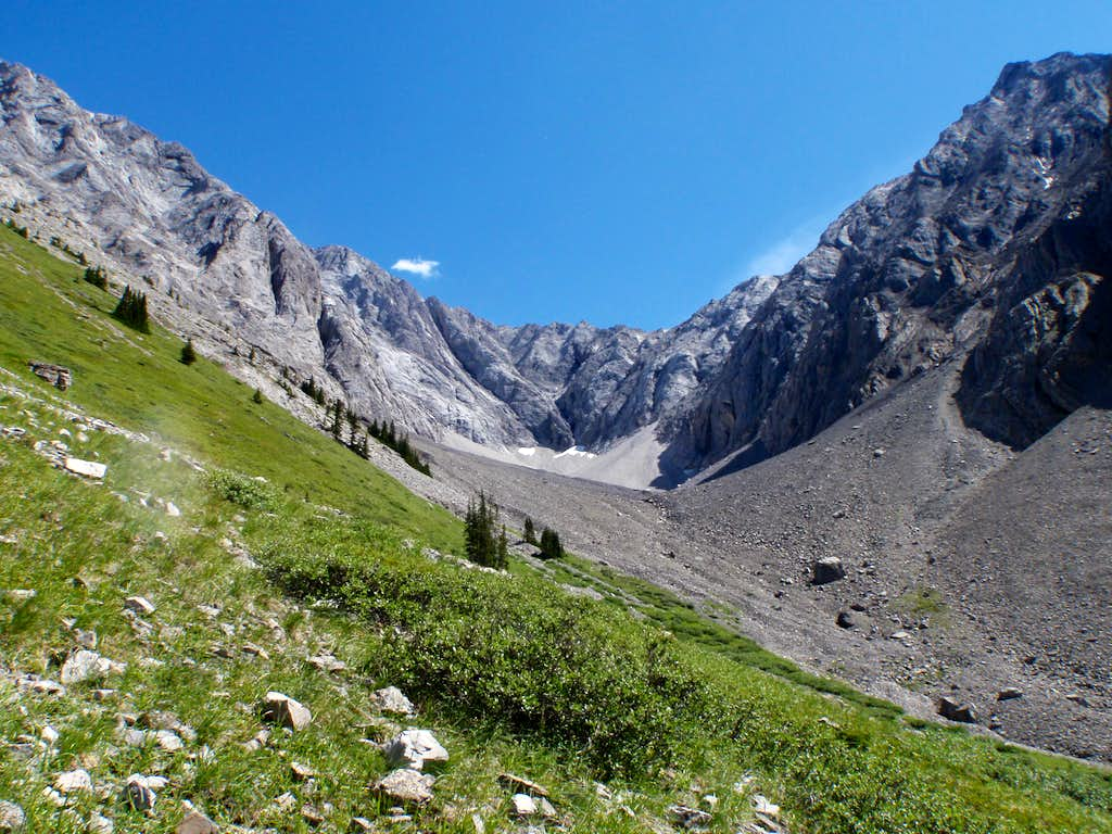 Basin to access North Gully