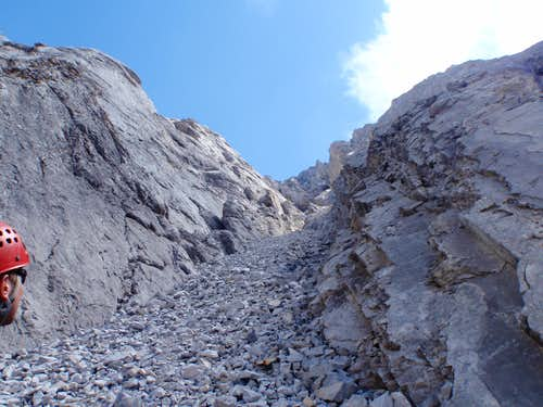 Base of North Gully - Mt. Packenham