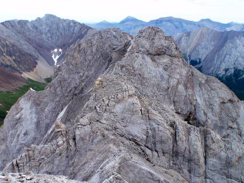 East summit of Mt. Packenham