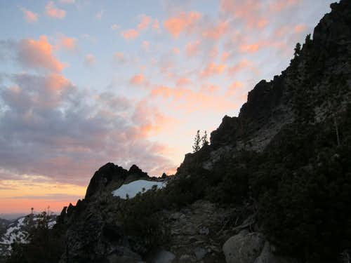 Sunset Above the Cascadian Couloir